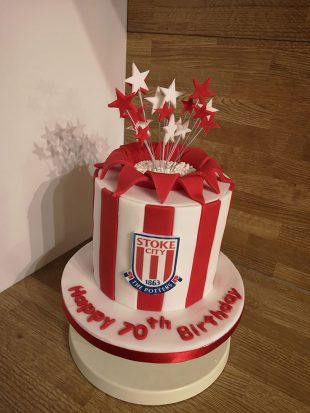 Stoke City Birthday Cake