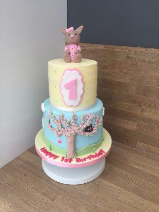 1st Blossom Birthday cake
