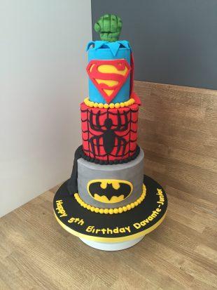 Super hero 3 tier Birthday cake