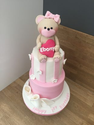 Bear birthday cake