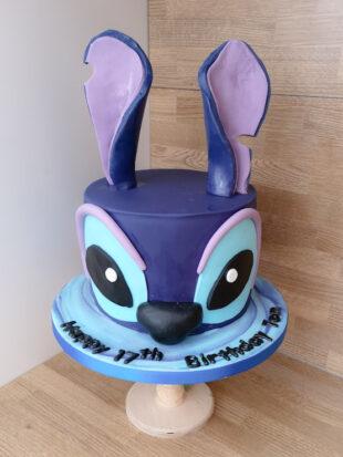 Stitch head birthday cake for a 17th