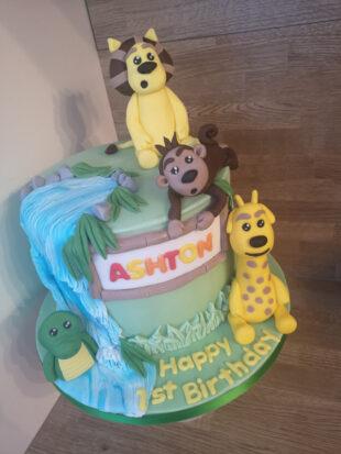 Rar Rar the noisy lion 1st birthday cake